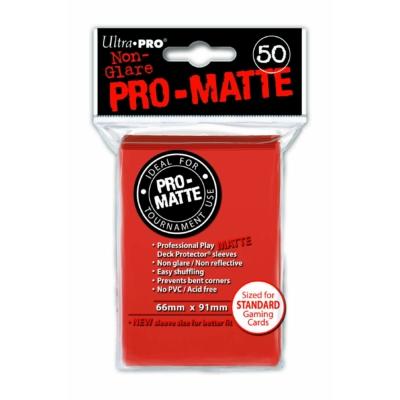 Ultra PRO standard kártyavédő fólia piros