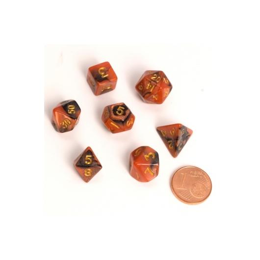 BiColor Black Orange Fairy Dice dobókocka szett