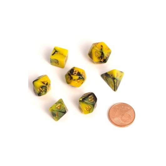 BiColor Yellow Black Fairy Dice dobókocka szett