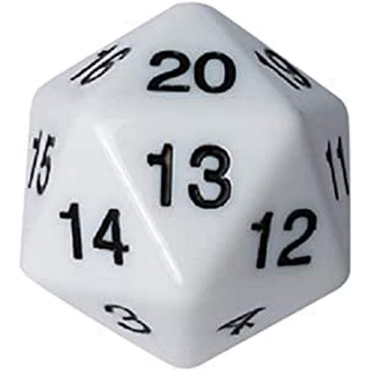 D20 Countdown Dice 55 mm - White