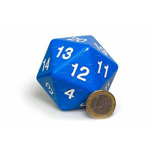 D20 Countdown Dice 55 mm - Blue
