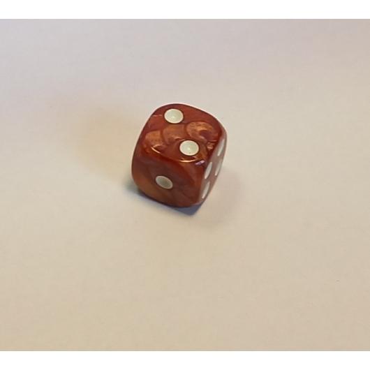 Opálos barna dobókocka D6