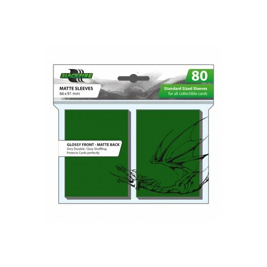 Blackfire Standard Sleeves- Green - Double-Matte