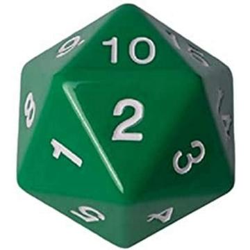 D20 Countdown Dice 55 mm - Green
