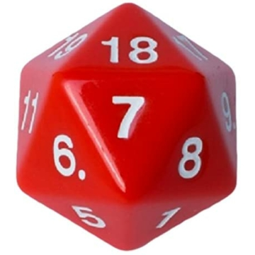 D20 Countdown Dice 55 mm - Red