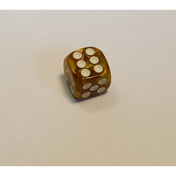 Opálos arany dobókocka D6