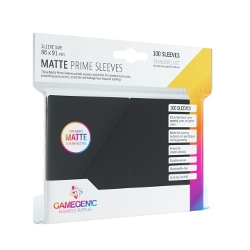 Gamegenic - Matte Prime Sleeves Fekete (100 db)