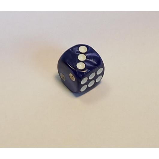 Opálos királykék dobókocka D6